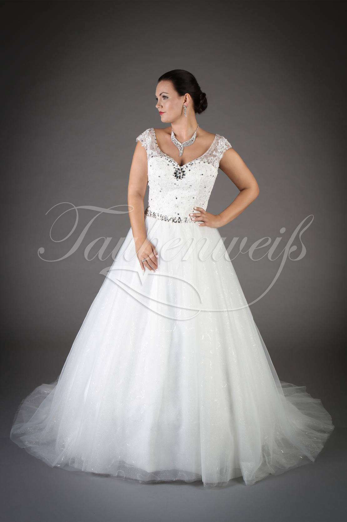 Wedding dress TW Ileana with sparkling bodice and full tulle skirt