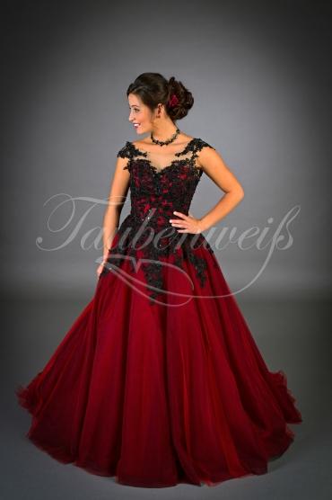 Wedding Dress Tw0052b Vivacious Red And Black Wedding Dress